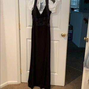 Full length black forms dress